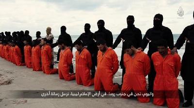 视频 埃及/IS在叙利亚海滩斩首21名埃及基督徒(1 /8)